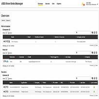 مدیریت ذخیره داده ها در AXIS